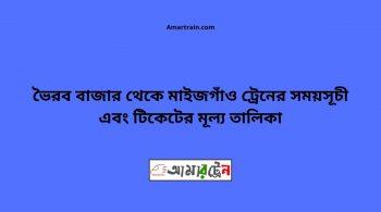 Bhairab Bazar To Maijgaon Train Schedule With Ticket Price